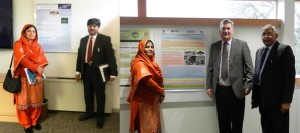 Dr. Farhat Jabeen along with Dr. Abdul Shakoor Chaudhry Newcastle University UK presented two posters on the research outcomes of INSPIRE Project