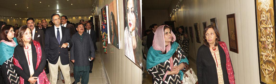 Painting Exhibition In Institute Of Art And Design Gcuf